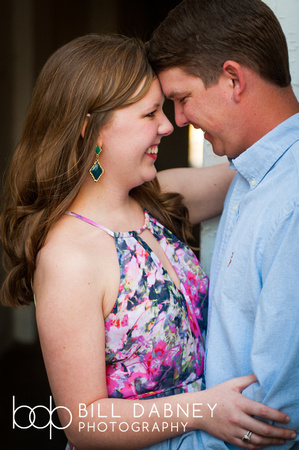 Engagement portrait of Kathryn & Jordan at Memory House by north Mississippi based wedding photographer Bill Dabney.
