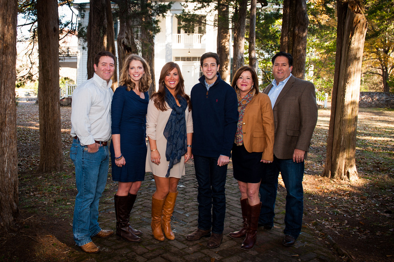 Hotard Family portrait by North Mississippi photographer Bill Dabney of Oxford.