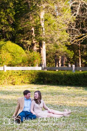Engagement portrait of Kathryn & Jordan Rowan Oak in Oxford, by North Mississippi based wedding photographer Bill Dabney.